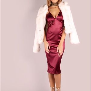 Wine midi dress. NEW!!